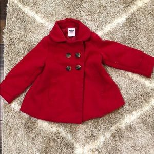 3t red old navy peacoat